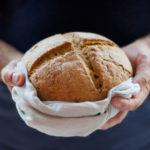 Thawing Frozen Bread On Linen Towel
